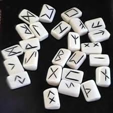 white rune stones